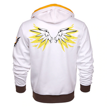 Load image into Gallery viewer, Overwatch Ultimate Mercy Zip-Up Hoodie