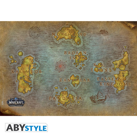 "WORLD OF WARCRAFT - Poster ""Map"""