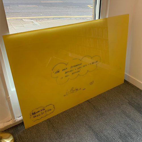 Clarus Glass Board, Yellow - Ex Showroom