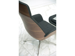 HNI HBF Conexus Lounge Chair and Ottoman - Ex Showroom