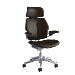Humanscale Freedom Task Chair with Headrest, Brown Leather - Ex Showroom