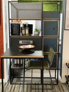 Frem Novus Bookcase and Table, Black with Intergrated Power - Ex Showroom