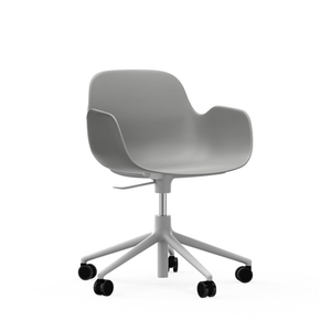 Normann Copenhagen Form Armchair Swivel on Castors, Grey - Ex Showroom