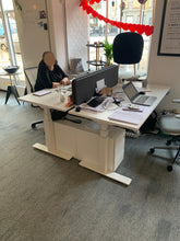 Load image into Gallery viewer, Koplus Hop Height Adjustable Single Desk with Fabric Screen- Ex Showroom