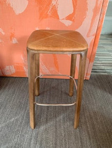 HNI Gunlocke Trillia Bar Stool, Leather Seat - Ex Showroom