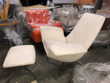 Load image into Gallery viewer, HNI HBF Dialogue Lounge Chair and Ottoman, Cream - Ex Showroom