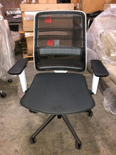 Load image into Gallery viewer, Koplus Tonique Task Chair, White Frame / Black Seat - Ex Showroom