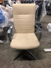Load image into Gallery viewer, HNI Gunlcocke Executive Chair on Glides, Beige - Ex Showroom