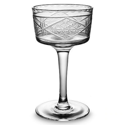 verre cocktail motif en relief