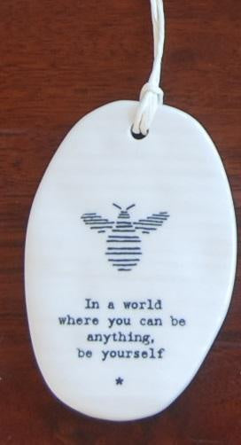 Oval Porcelain Bee - In A World