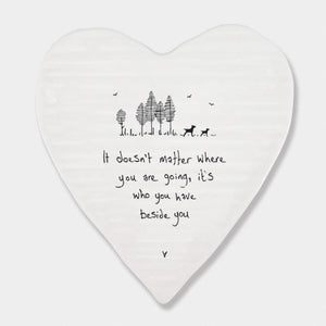 Porcelain Wobbly Heart Coaster - Matter