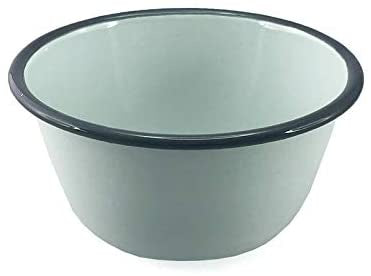 Enamel Pudding Basin 1.2L - Duck Egg Blue/Grey