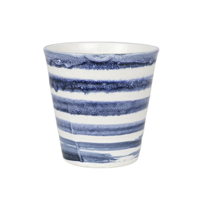 Small Carousel Cup - Indigo Brush Band