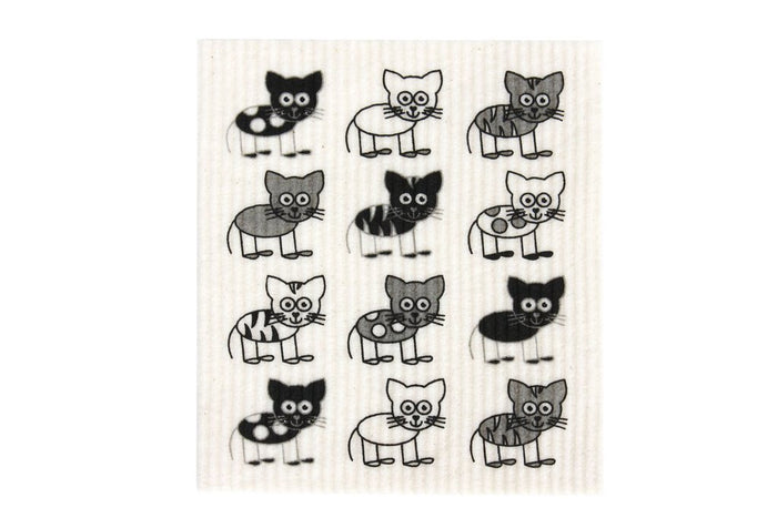 Swedish Dish Cloth - Cats