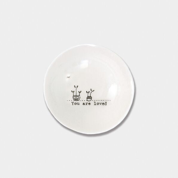 wobbly Porcelain Sml Bowl you are loved