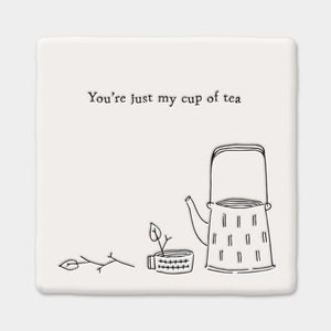 Square Coaster Cup of Tea
