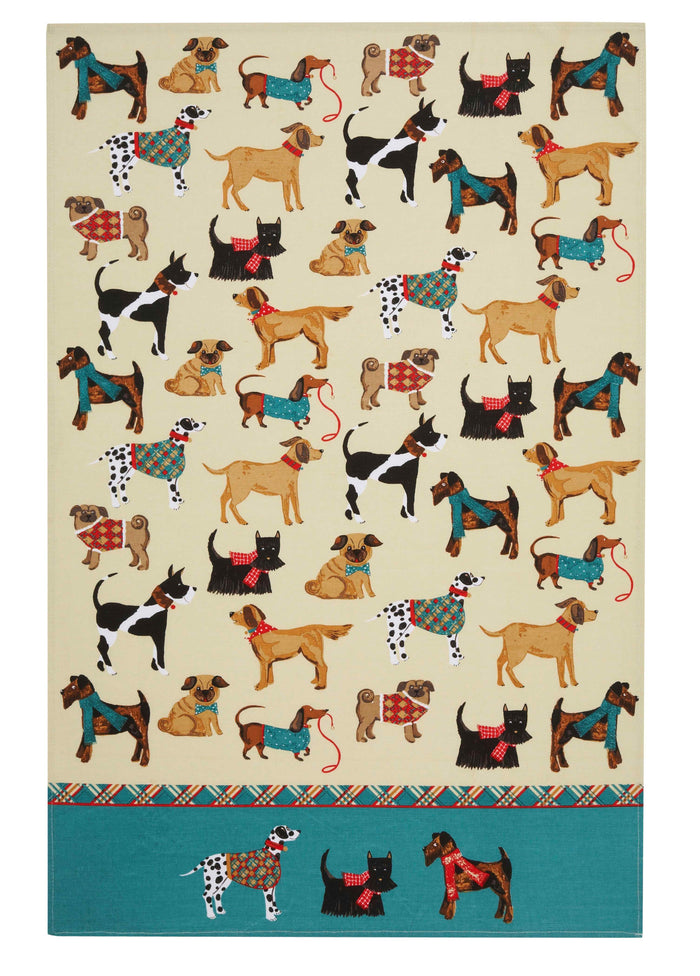 Hound Dog Cotton Tea Towel 74x48cm Mul