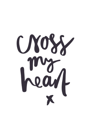Cross My Heart | Greeting Card