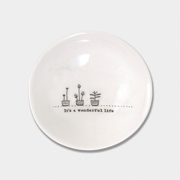 Wobbly Porcelain Medium Bowl It's a Wonderful Life