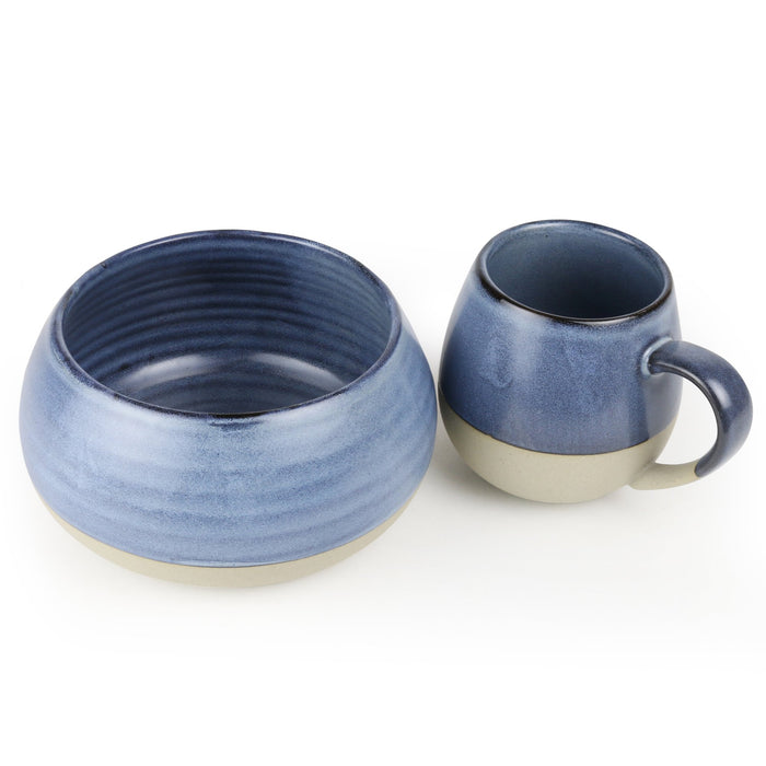 Bowl & Mug Set - Denim Morning