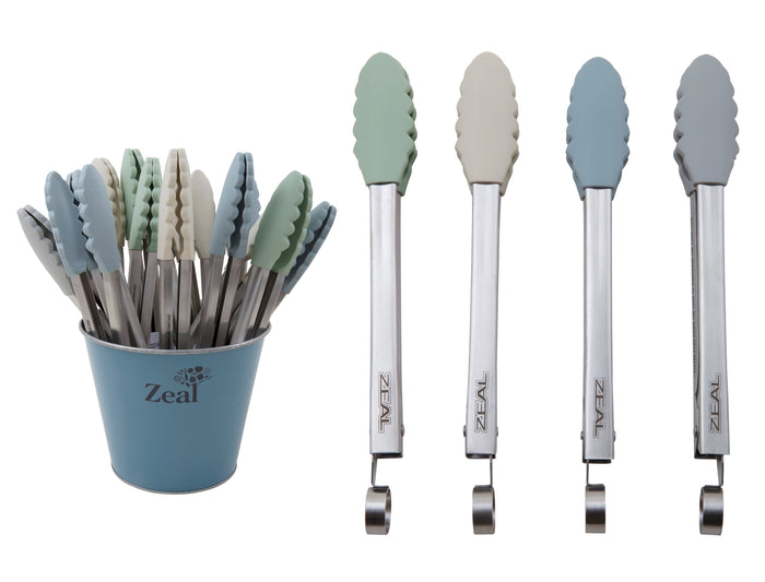 Classic ­Silicone Tongs­ Assorted Colours