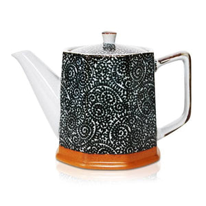 Spiral Black Teapot 500ml