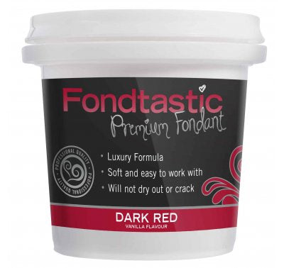 Fondant Dark Red 8oz