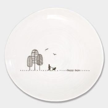 Wobbly Plate - Happy Days