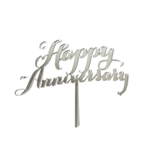Happy Anniversary Cake Topper - Mirror