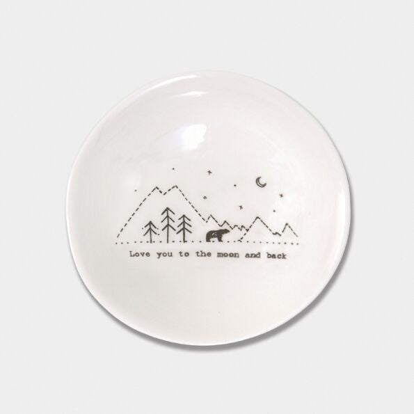 wobbly Porcelain Med Bowl love u moon