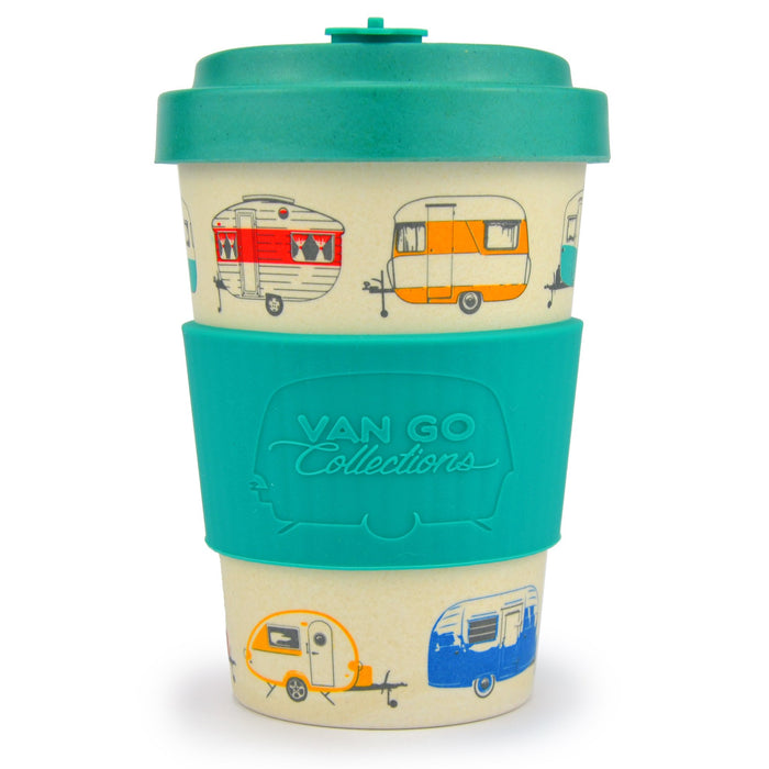 Bamboo Travel Mug 400ml - Summer Green