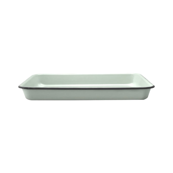 Enamel Rect Baking Tray 31cm - Duck Egg Blue/Grey