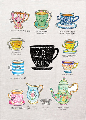 Mo-Tea-Vation Tea Towel
