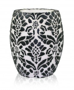"Pineapple Damask 4""Hurricane - White & Black"