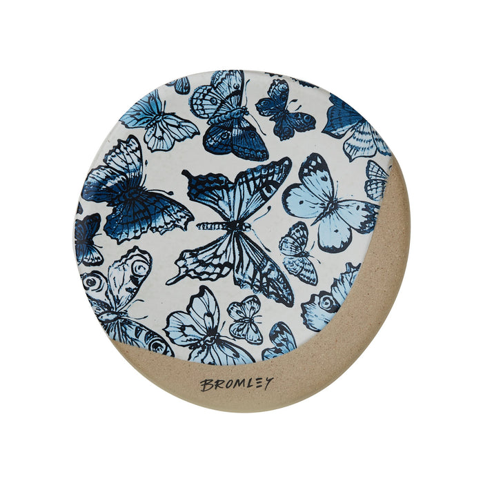Coaster Round - Blue Butterflies Bromley