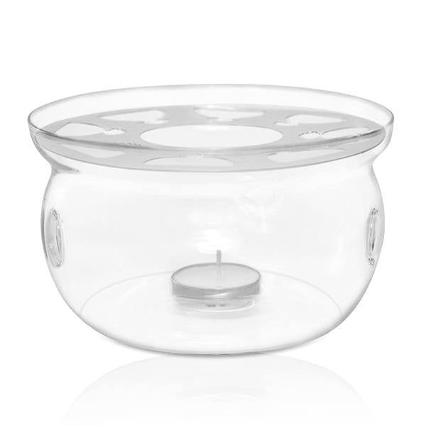 Large Glass Warmer w Candle