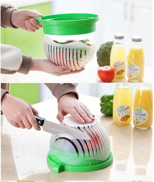 Salad Cutter Bowl, Fast Fruit & Vegetable Cutter Bowl - brilliantshop.site