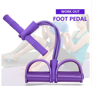 Fitness Gum 4 Tube Resistance Bands Latex Pedal Exerciser Sit-up Pull Rope Expander Elastic Bands Yoga equipment Pilates Workout - brilliantshop.site