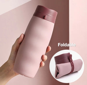 600 ml Silicone Folding Water Bottle Outdoor Sports - brilliantshop.site