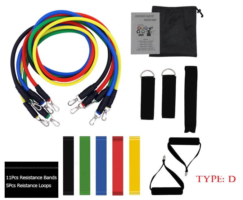 Resistance Bands  Set Latex  with Handles and Ankle Straps - brilliantshop.site