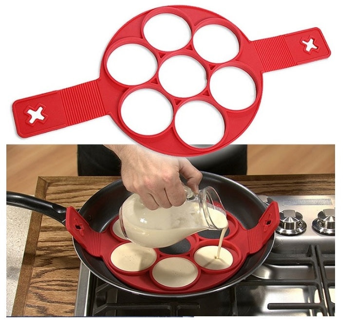 Pancake Maker, Egg Ring Maker Nonstick  Silicone, Kitchen Gadgets Cooking Tools Silicone - brilliantshop.site