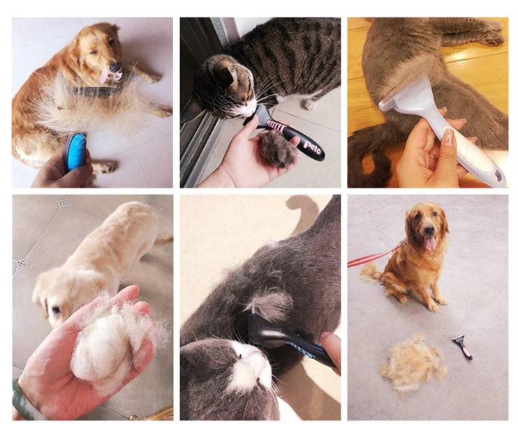 Pet Hair Comb & Brush, Dog,Cat Grooming Tool, Pet Hair Removal - brilliantshop.site