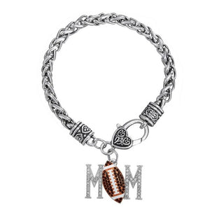 Chain Bracelets Crystal Soccer & Volleyball & Baseball & Rugby MOM Bracelet - brilliantshop.site