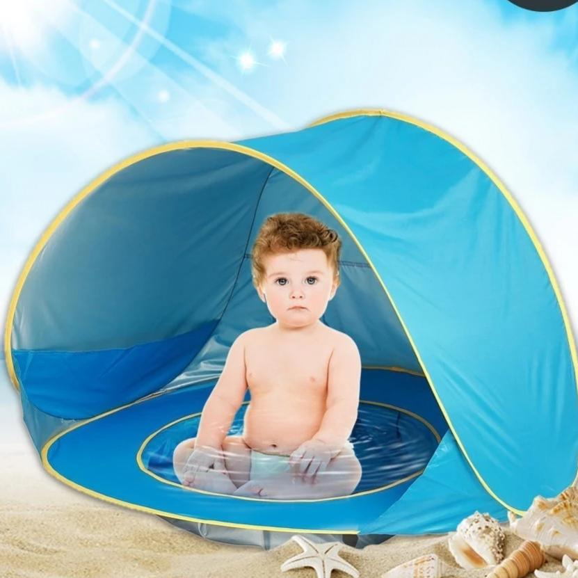 Portable Baby Beach TENT  (UPF 50 + Waterproof) Sun Shelter UV-protecting  Pool / Beach Cabana - brilliantshop.site