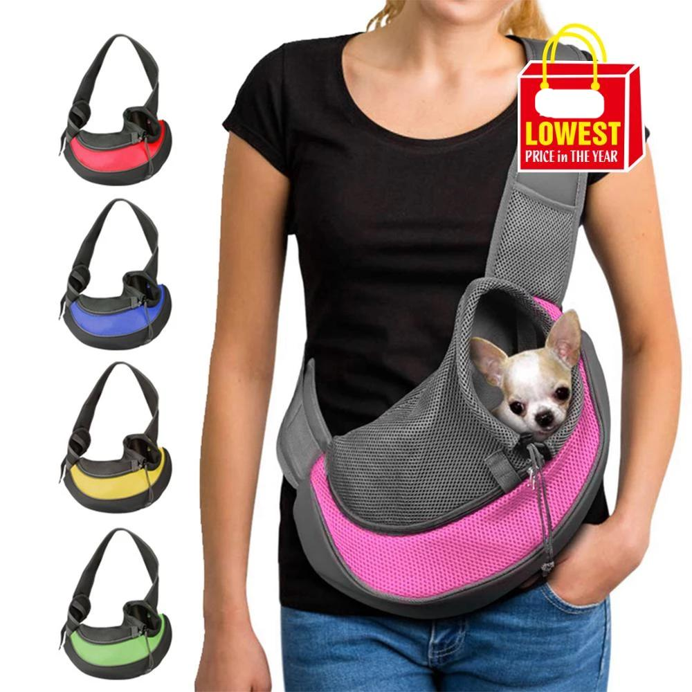 Pet  Shoulder Carrier & Travel Dog Shoulder Bag - brilliantshop.site