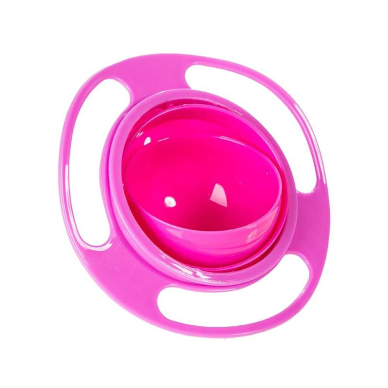 Children Tableware Non Spill Bowl, Anti Spill Kids Bowl, 360 Rotate Avoid Food Spilling,   Gyro Bowl - brilliantshop.site