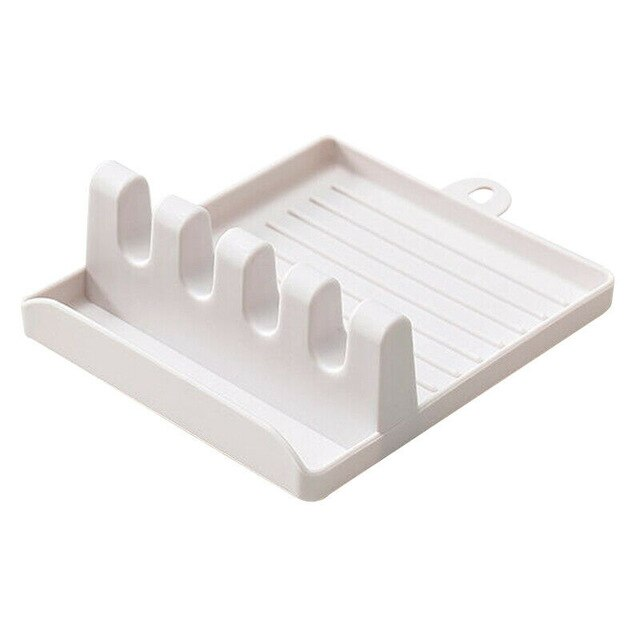 Spatula Holder Storage Shelf Spoon Rest Tableware Holder Draining Rack - brilliantshop.site