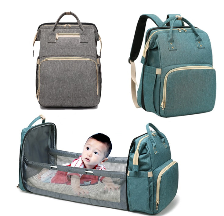 Baby Diaper Bag, Multi-functional Baby Bag Built IN Changing Table, Extendable Diaper Bag - brilliantshop.site
