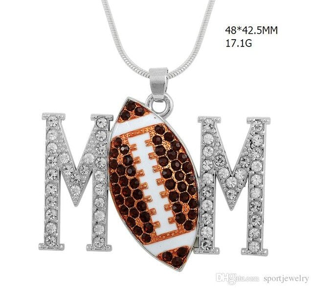 Mix Volleyball & Football & Rugby & Tennis & Baseball MOM PENDANT - brilliantshop.site