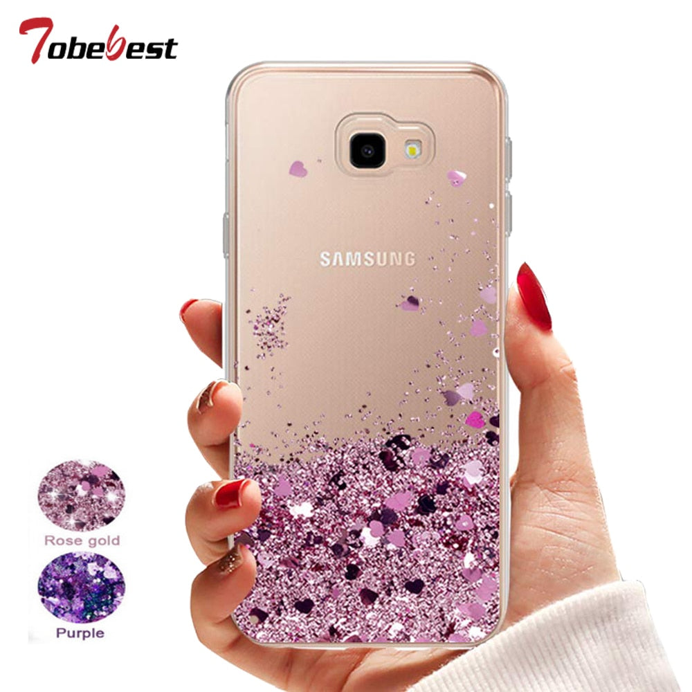 Case Liquid Glitter  For Samsung Phone Galaxy (Silicone Phone Case) - brilliantshop.site